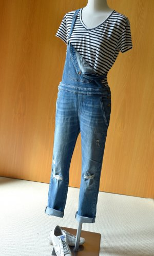 7 SEVEN FOR ALL MANKIND Gr.S/36 Latzjeans Overall Denim Latzhose used look