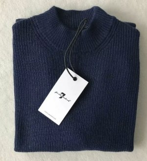 7 SEVEN FOR ALL MANKIND Pullover Mock Up Neck Navy Dunkelblau, XS