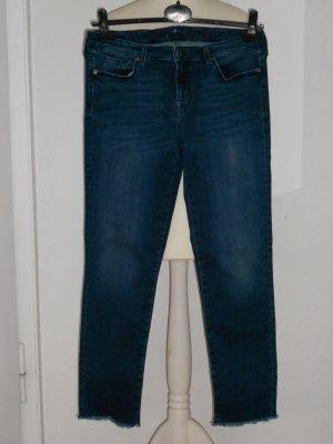 7 For All Mankind 7/8-jeans blauw-staalblauw Katoen