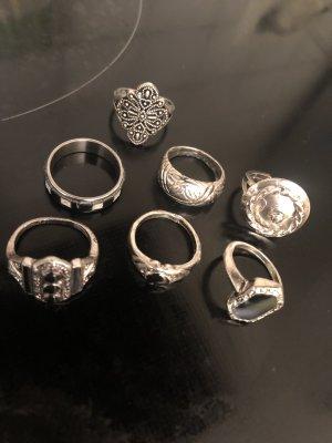 7 Stück Vintage Ringe gr 16-18 mm