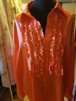 Long Sleeve Shirt neon orange polyester