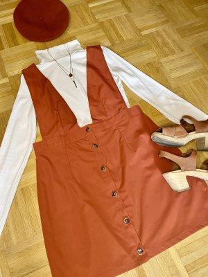 70er Stil Schürzenkleid
