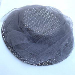 Vintage Sun Hat silver-colored