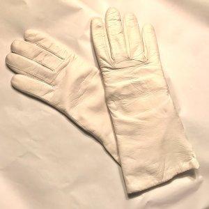 Vintage Rękawiczki skórzane biały