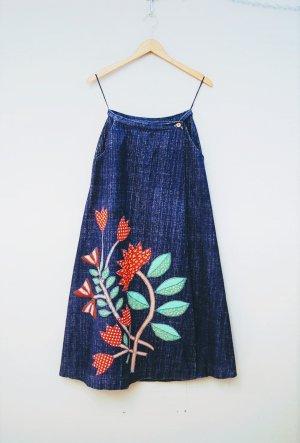 Vintage Falda cruzada multicolor