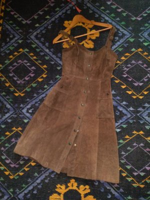 Leather Dress brown