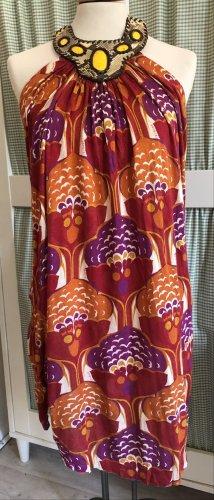 T-Bags Sukienka z dekoltem typu halter Wielokolorowy Bawełna
