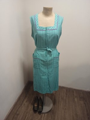 70s 70er Vintage Kleid mint türkis Folklore Tracht Gr. M / L