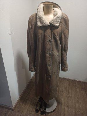 Vintage Manteau en cuir multicolore