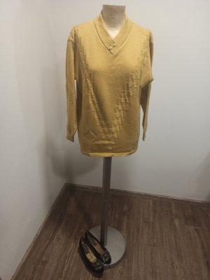 70s 80s  Vintage Pullover senf senfgelb ocker Gr. 38 40