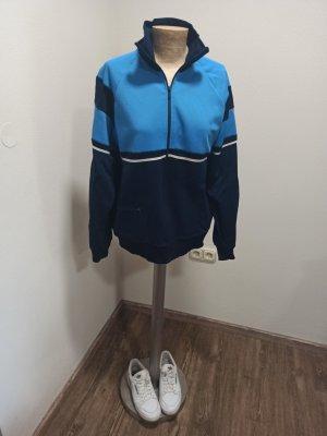 Vintage Veste de sport bleu-bleu foncé
