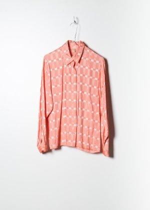 70s Damen Bluse in Rosa