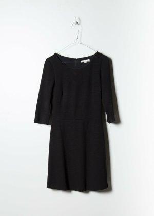 70s Damen Sommerkleid in Schwarz