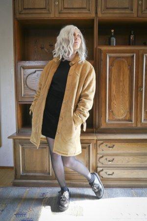 70s Suede Velourleder Mantel Jacke hellbraun Restauriert Hippie Boho S M Echtleder Lederjacke Vintage Retro
