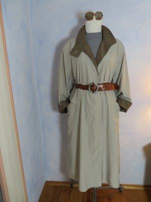70s Vintage Clean Chic Trenchcoat Jobis Beige Braun Oversize Parka Long Mantel 38 40 M L Maxi Coat