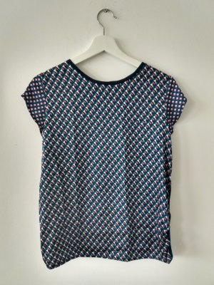 70ties Shirt mit geometrischem Muster