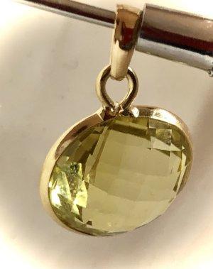 Echtgold Pendente oro-verde pallido