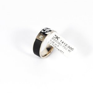 Złoty pierścionek biały Prawdziwe złoto