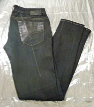 Gas Carrye Leather W 30 Denim mit schwarzem Leder