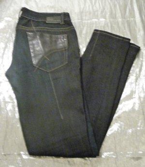 Gas Jeans skinny bleu foncé-noir jean