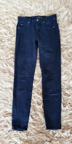 7fam seven for All Mankind Skinny Jeans Leder Optik suede leggings boho vegan