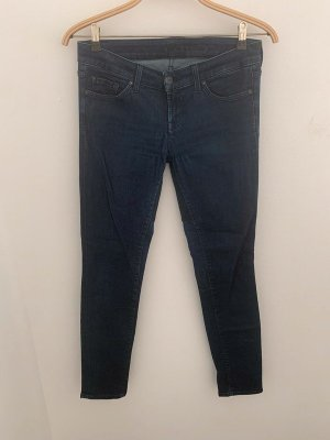 7 For All Mankind Vaquero pitillo azul oscuro Algodón