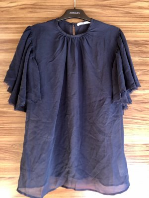 7 For All Mankind Silk Blouse blue