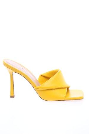8 BY YOOX Sandales à talon haut jaune primevère élégant