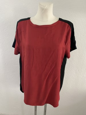 8PM T-shirt zwart-karmijn