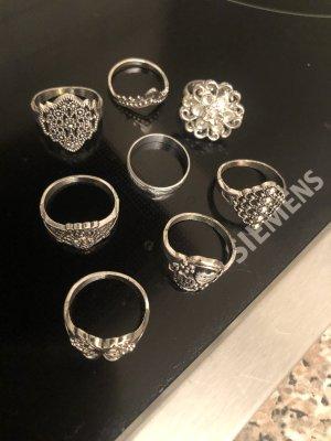 8 Stück Vintage Ringe gr 16-18 mm 54-57