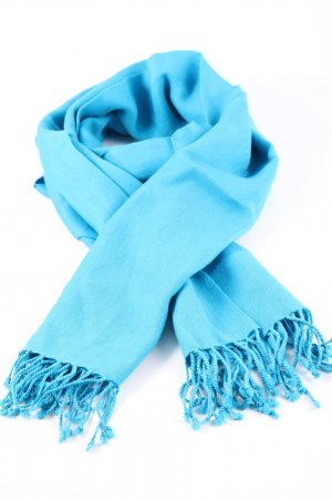 -8- Venice Szalik z frędzlami niebieski W stylu casual