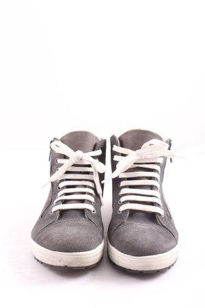 -8- Venice High Top Sneaker light grey casual look