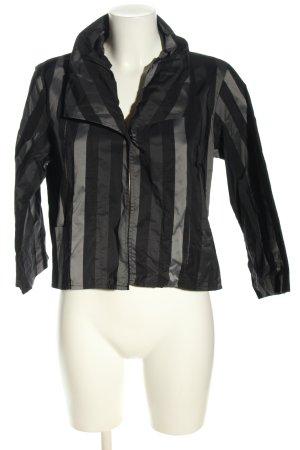 -8- Venice Blazer corto negro-gris claro estampado a rayas look casual