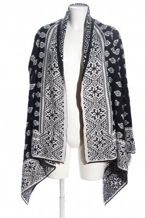 -8- Venice Knitted Cardigan white-black allover print casual look