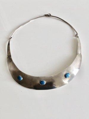 800 Silber Design Collier Halskette türkis Cabochonen Mexico Mexiko Artist piece Silbercollier handgefertigt