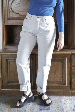 True Vintage Wortel jeans lichtgrijs Katoen