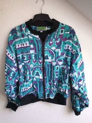 Real Vintage Bomber Jacket multicolored viscose
