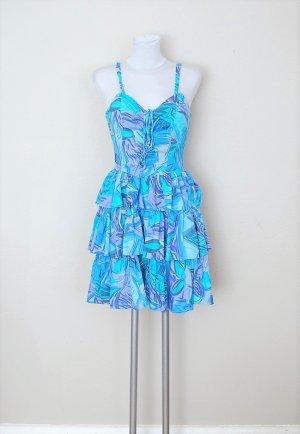 Vintage Sukienka gorsetowa Wielokolorowy