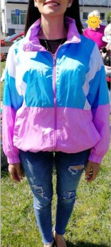 Windbreaker multicolored polyester