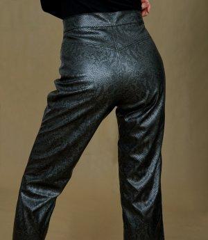 Vintage Pantalón de cuero multicolor Imitación de cuero