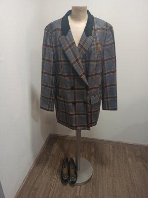 Vintage Wollen blazer veelkleurig Wol