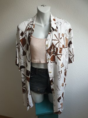 80s / 90s Bluse / Hemd / Blusenkleid / Hemdkleid, abstraktes Muster