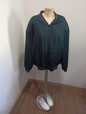 Vintage Blouson verde scuro-verde bosco Seta