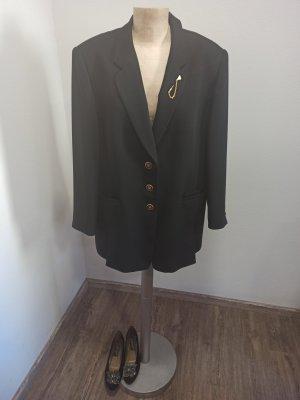 80s 90s Marcona Vintage Blazer schwarz Golddetails Oversize Gr. 44