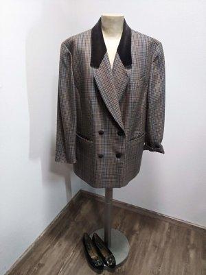 80s 90s Marcona Vintage Wollblazer braun kariert Gr. L / XL