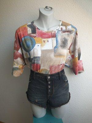 80s / 90s Oversize Shirt mit Kunstprint