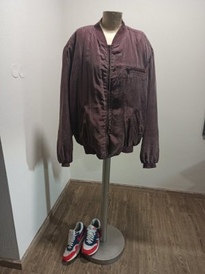 Vintage Bomber Jacket multicolored silk