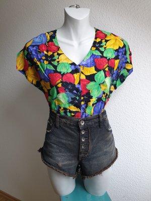 80s / 90s Vintage Bluse mit buntem Print