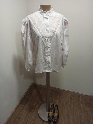Vintage Blouse en dentelle blanc