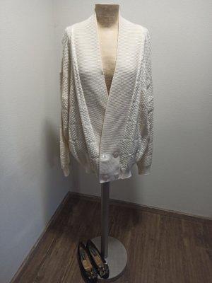 80s 90s Vintage Cardigan beige / wollweiß Oversize M L XL